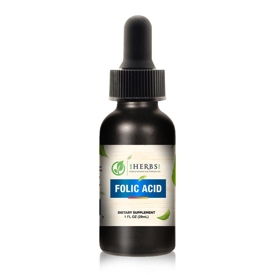 liquid Folic Acid product Bottle